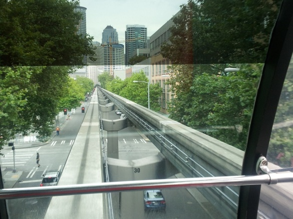 Riding Along the MonoRail - Downtown Seattle