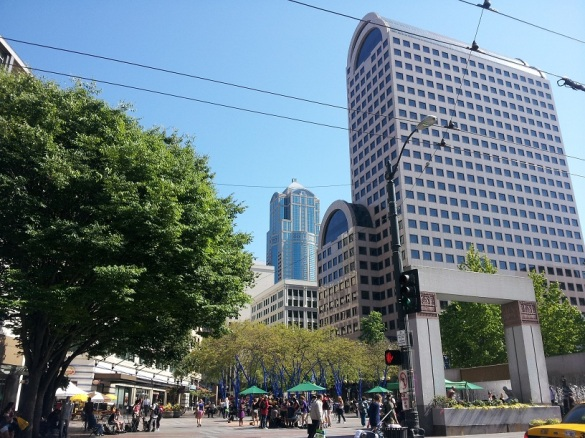 Main Square in Downtown Seattle