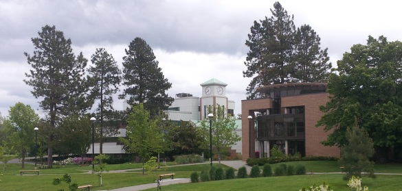 Clock Tower & Library - Thompson Rivers University