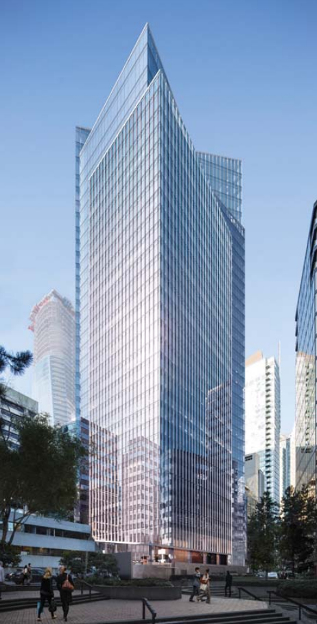 Proposed Building at 1133 Melville in Downtown Vancouver